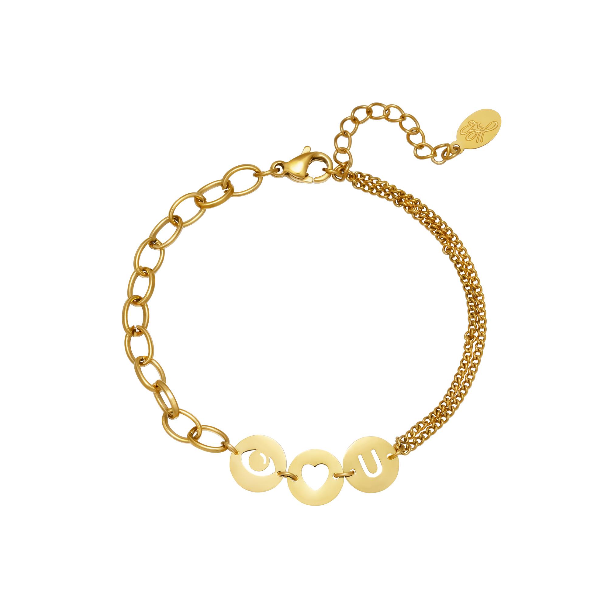 Armband I love you vergoldet