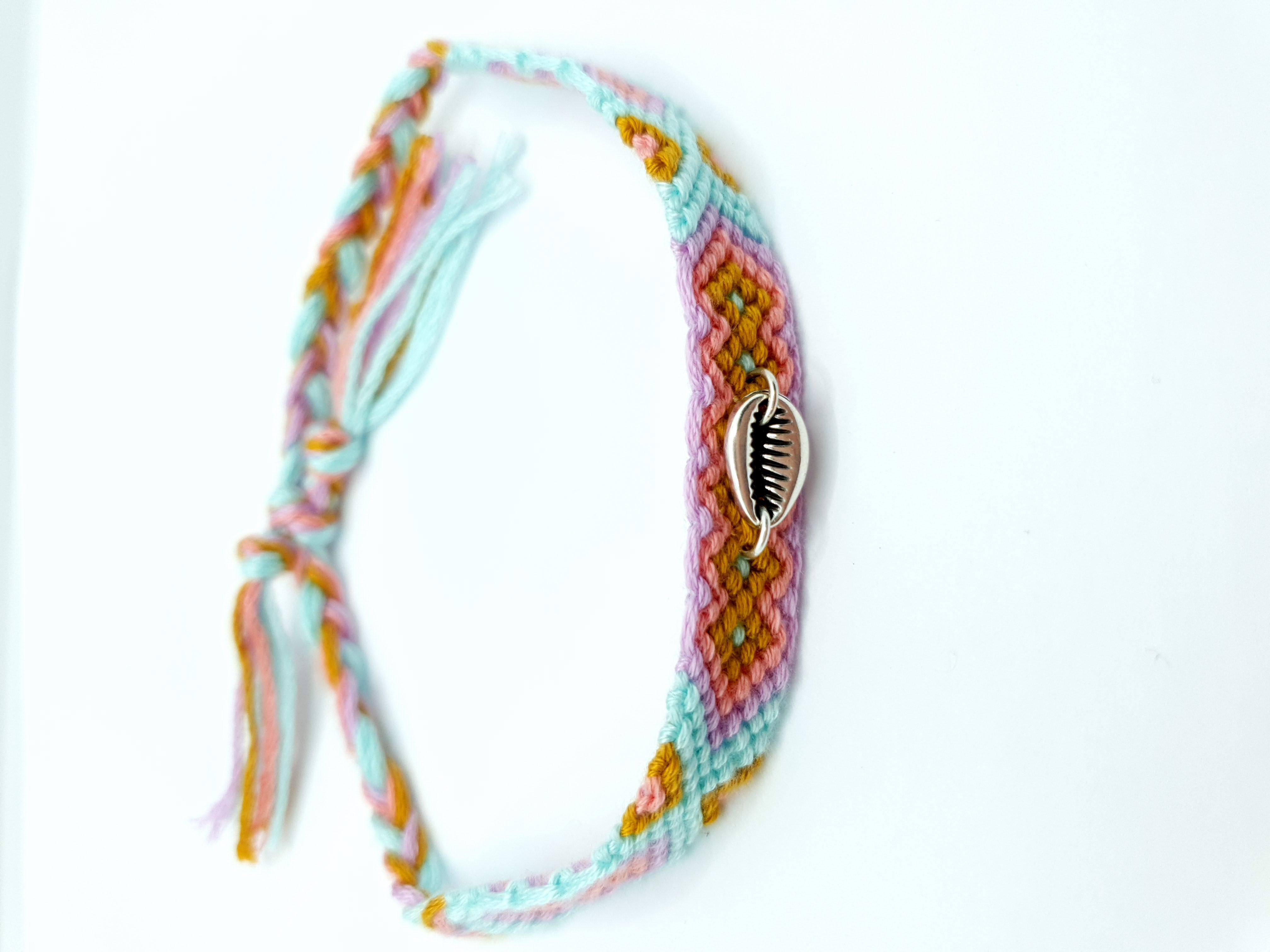 Fußkettchen/Armband aquafarben