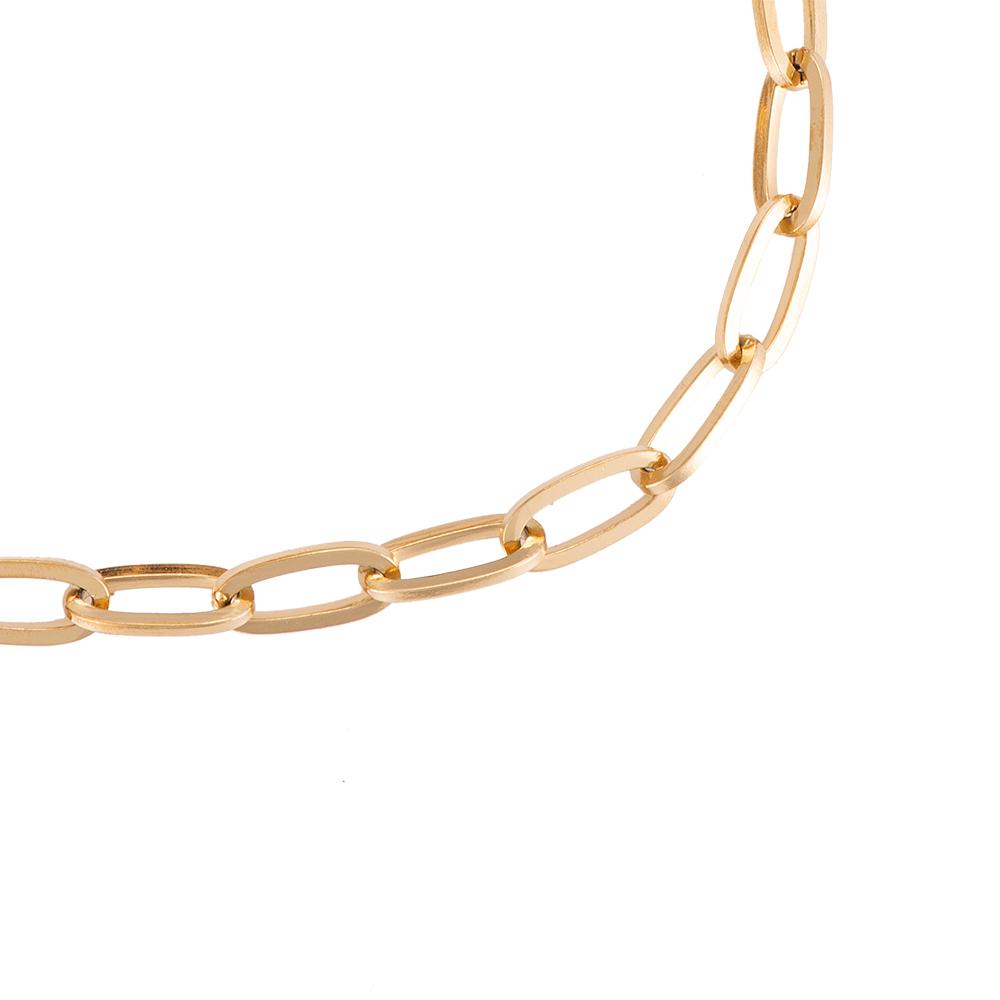 Fußkettchen oval round chain vergoldet