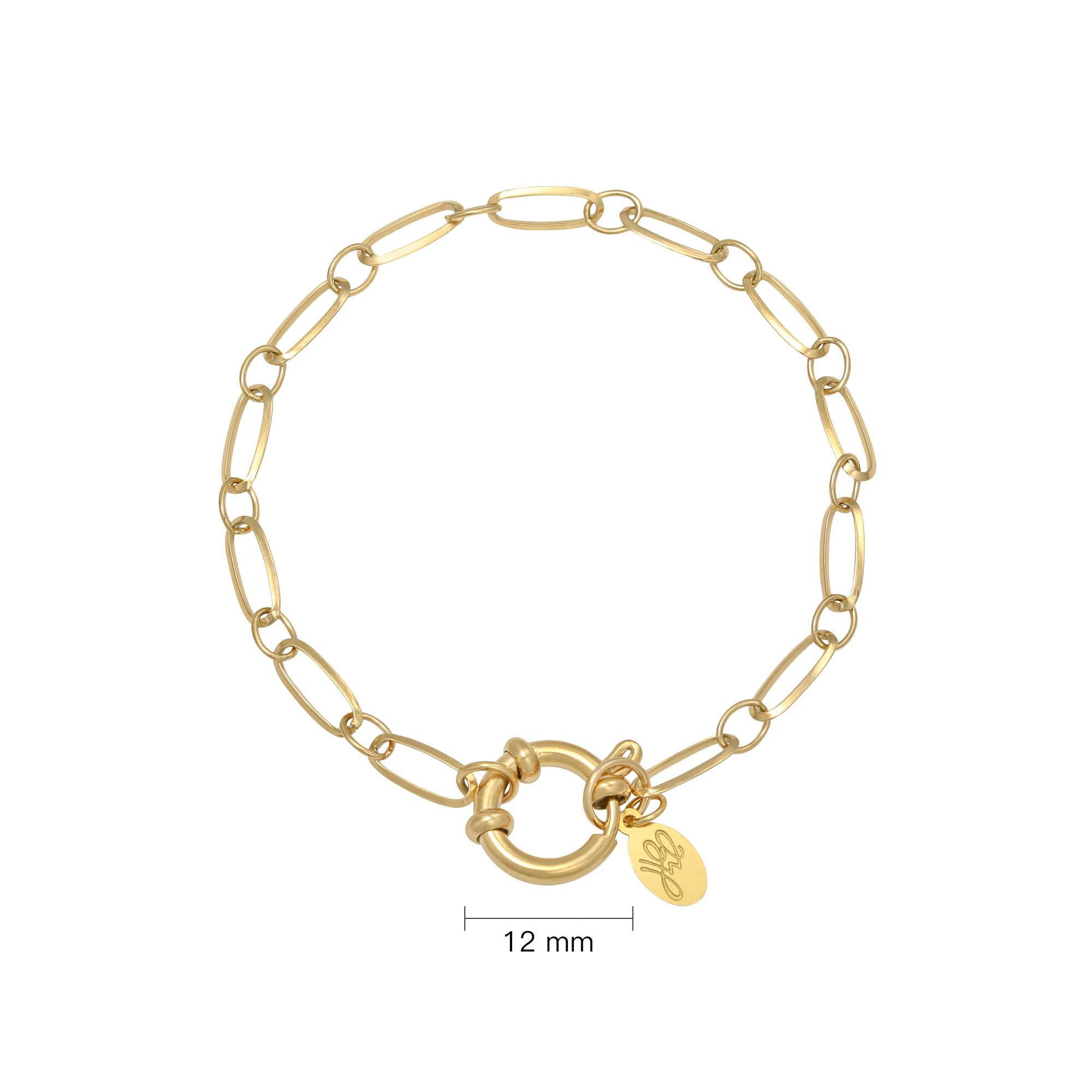 Armband Edelstahl vergoldet für Charms