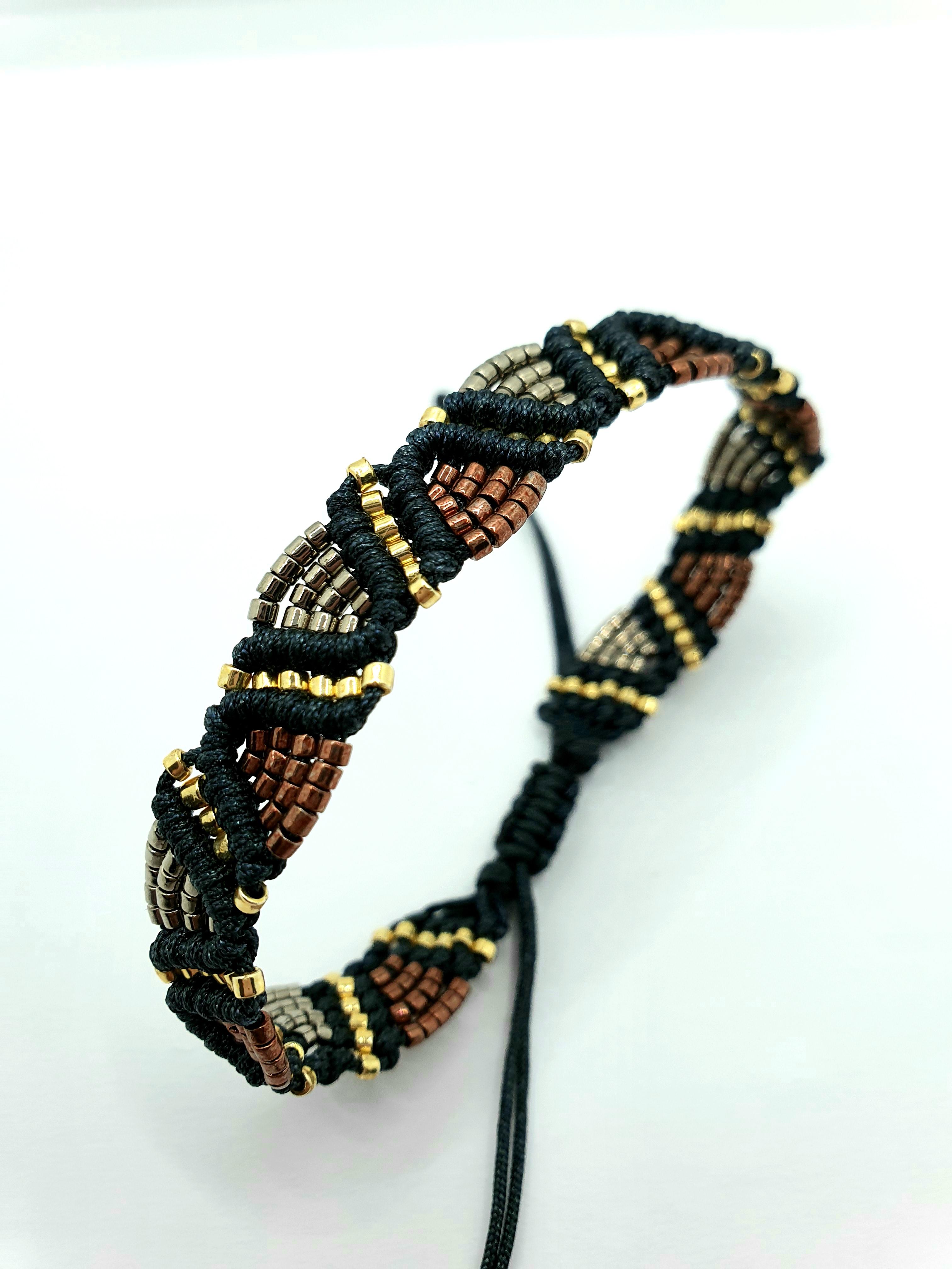 Armband gewebte Glasperlen