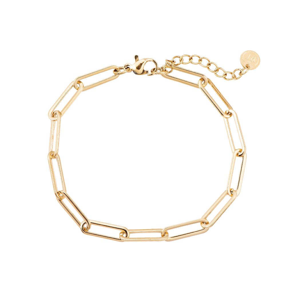 Armband oval Chain vergoldet